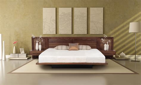 Bed Frame With Attached Nightstands by Moduluxe Modern Platform Bed Copeland