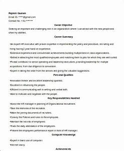sample hr executive resume 7 examples in word pdf With sample resume for experienced hr executive