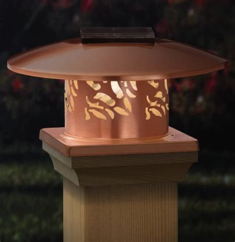 copper solar post cap light beautiful solar lights for