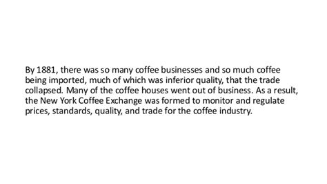 Coffee Industry In The United States By Jonah Engler
