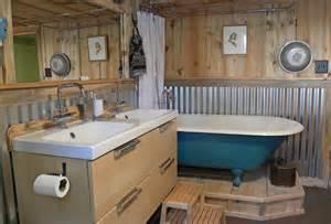 Galvanized Water Trough Bathtub by New Bridge Or The Pennock Family Craftsman Bathroom