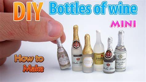 bottle l diy diy miniature wine bottles dollhouse no polymer clay