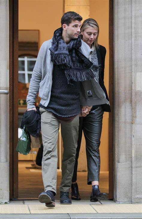 maria sharapova  boyfriend shopping  dover street market  london november