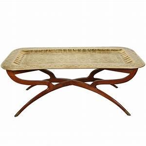 brass tray mid century rectangular coffee table at 1stdibs With mid century rectangular coffee table