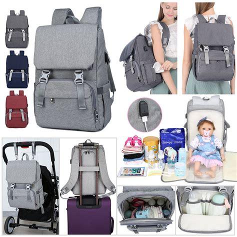 amerteer multifunction diaper bag backpack waterproof travel backpacks  momdad