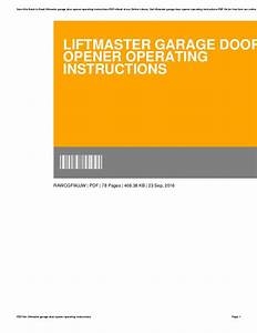 Liftmaster Garage