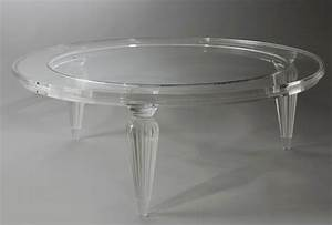 Coffee table small round acrylic coffee table design for Clear lucite acrylic coffee table