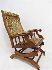 an antique walnut american rocking chair armchair c 1910