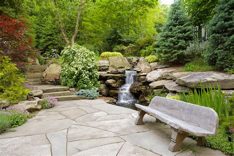 pond landscape design waterfalls cording landscape design