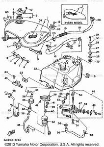 Yamaha Motorcycle 1995 Oem Parts Diagram For Fuel Tank