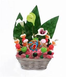 Corbeille De Fleurs Pour Mariage : corbeille fleurs en bonbons mongateaudebonbons ~ Teatrodelosmanantiales.com Idées de Décoration