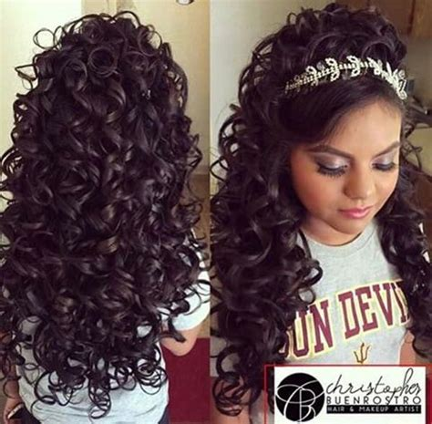 quinceanera hairstyles   special day style easily