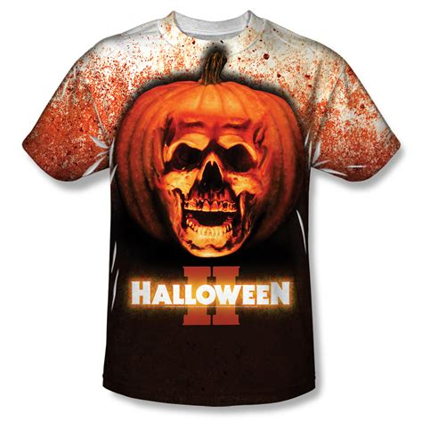 halloween ii pumpkin skull    shirt
