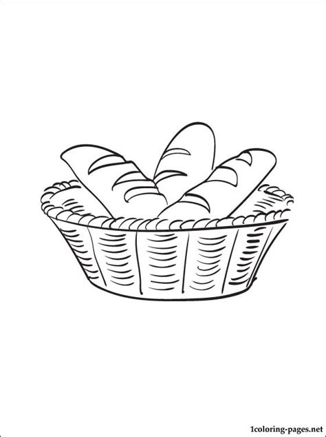 breadbasket coloring page coloring pages