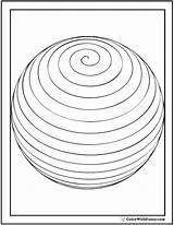 Spiral Coloring Pages Sphere Shape Circles Spheres Colorwithfuzzy sketch template