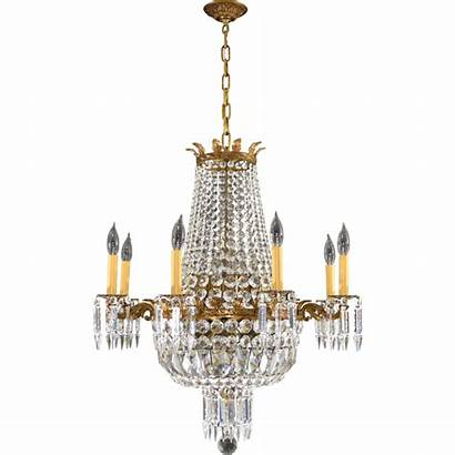 Chandelier Crystal Brass French Lights Tolw Rubylane