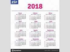 Spanish calendar 2018 — Stock Vector © rustamank #147099615