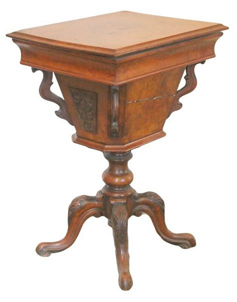 antique tables for mid antique burr walnut sewing work table 7487