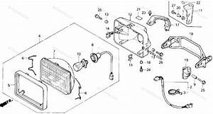 Honda Atv 1986 Oem Parts Diagram For Headlight