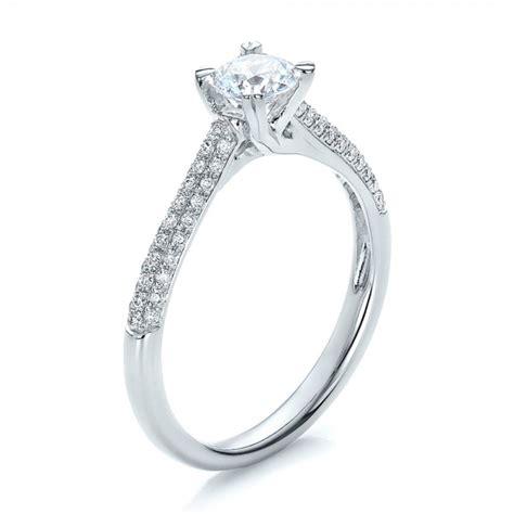 contemporary criss cross diamond engagement ring 100403