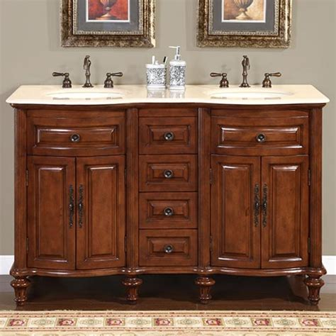 55 inch double sink vanity 55 inch double sink bathroom vanity with cream marfil