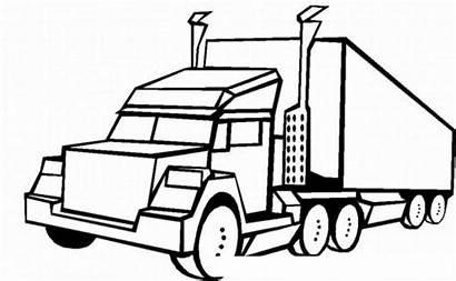 Clipart Wheeler Truck Coloring Dibujos Colorear Trucks