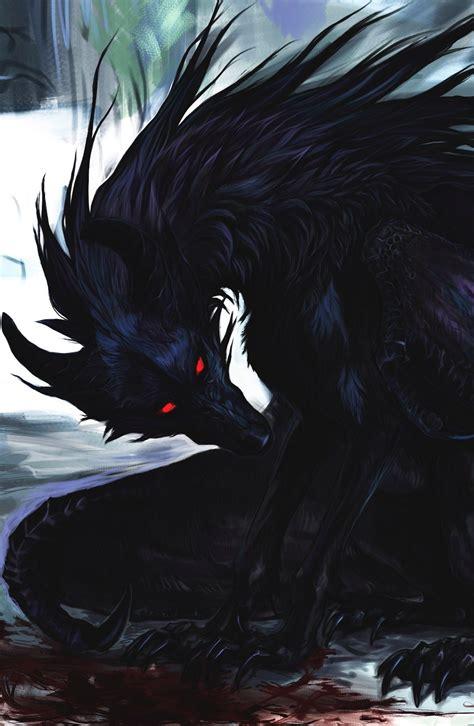 Wolf-crow demon | Art | Pinterest | Dragon, Fantasy wolf i ...