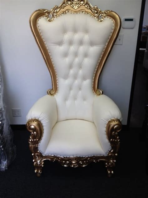 gold on white king throne chairs rental yelp