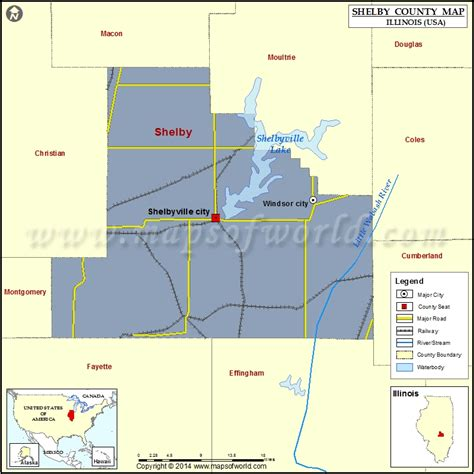 shelby county map illinois