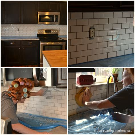 how to install subway tile kitchen backsplash subway tile backsplash infarrantly creative