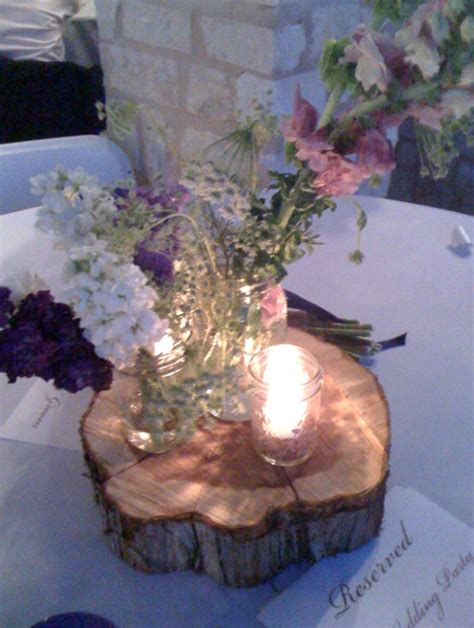 Wood Log Centerpieces for Weddings CATEGORIES: weddings