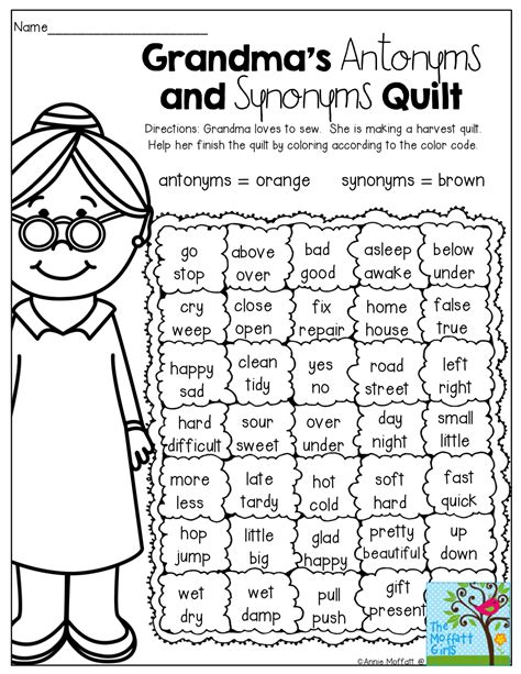 a fun way to review antonyms and synonyms education