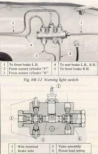 Brake Line Pressure Differential Warning Light Switch