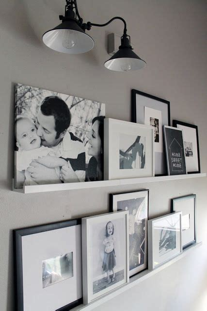 ikea photo ledges 29 ideas to use ikea ribba ledges around the house digsdigs