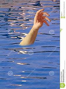 Drowning Arm In Swimming Pool Stock Photo - Image: 68382711