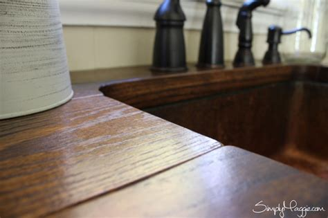diy wide plank butcher block counter tops simplymaggie diy budget friendly butcher block countertops fall home