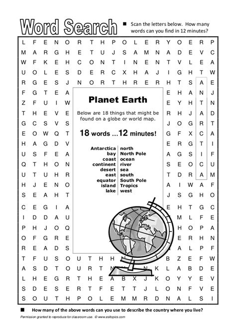 word search planetearth