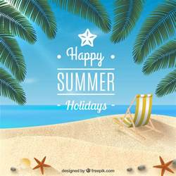 Happy summer holidays background Vector | Free Download
