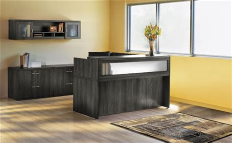 Mayline Reception Desk by Mayline At37lgs Aberdeen L Shaped Reception Desk And