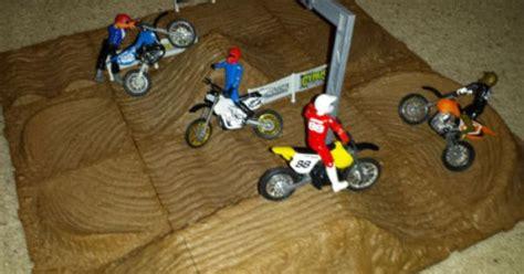 monster truck race track toy jakks pacific mxs motocross race track set dirt bikes