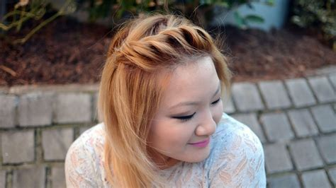 front side twist hairstyle quick easy youtube