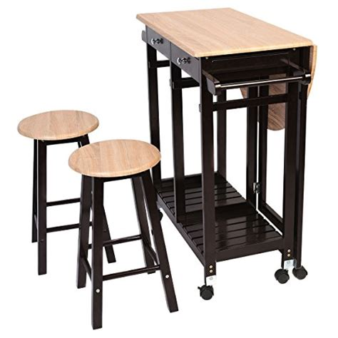 kitchen island tables with stools kitchen island rolling cart set dinning drop leaf table 8228