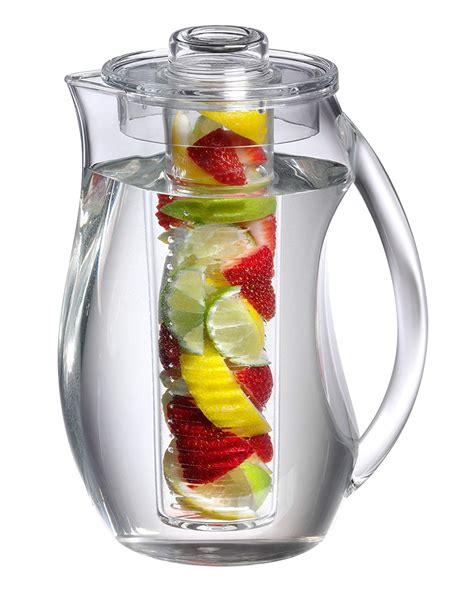 fruit infusion pitcher flavor water home kitchen