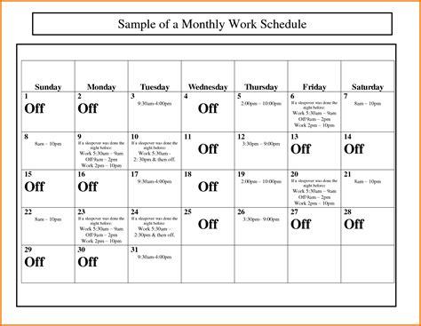 monthly schedule template monthly work schedule template newfangled capture calendar simplified marevinho