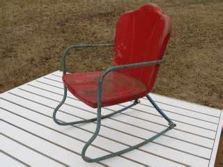 antique vintage childs doll rocker rocking chair bentwood