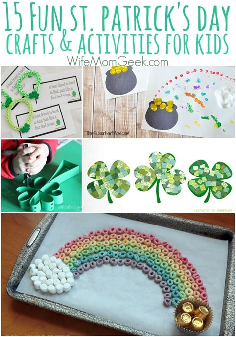 st patricks day crafts for preschoolers 15 easy st s day crafts and activities for 812