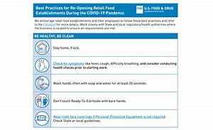 Fda Issues Reopening Best Practices Checklist And