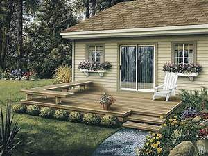 Dewey low patio decks plan 002d 3004 house plans and more for Deck and patio ideas for small backyards
