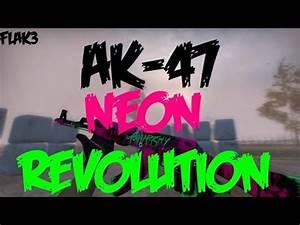 AK 47 Neon Revolution HD Para CS 1 6