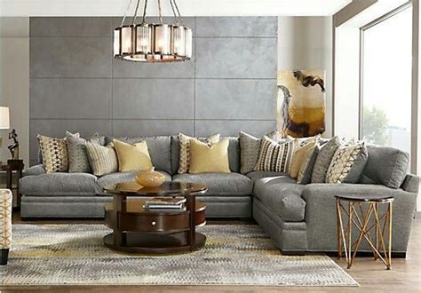 rooms   palm springs sectional sofa seats  home